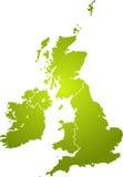 zielona mapa wielkiej brytanii Zdjęcie Royalty Free