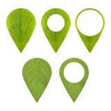 Zielona markier ikona Obrazy Stock