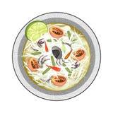 Zielona melonowiec sałatka z Fermentującymi Solonymi krabami Obrazy Royalty Free