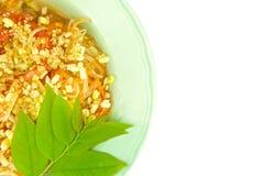 Zielona melonowiec sałatka z liśćmi odizolowywającymi agrestowy jarosz Zdjęcie Royalty Free
