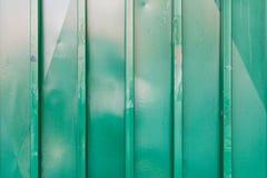 Zielona metalu drzwi tekstura Obrazy Royalty Free