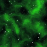 zielona mgławica Obraz Royalty Free