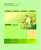 zielona miejsca szablonu sieć Obrazy Royalty Free