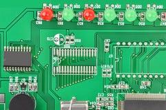 Zielona modem płyta główna fotografia stock