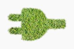 Zielona murawa loga władzy prymka Zdjęcie Stock