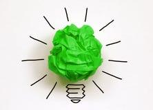 zielona myśl zdjęcie stock