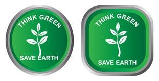 zielona myśl ilustracji