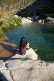 zielona następna odpoczynkowa rzeka Obraz Royalty Free