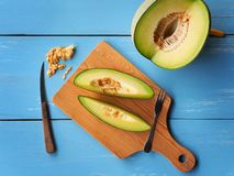Zielona netto melonowa owoc fotografia stock