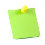 zielona notatka Zdjęcia Royalty Free