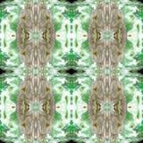 Zielona Nowożytna Ikat Plemienna Bezszwowa Deseniowa sieć zdjęcie royalty free