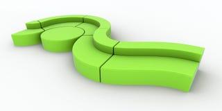 zielona nowożytna kanapa Zdjęcie Royalty Free