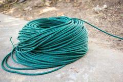 Zielona nylonowa arkana, rolka, linia, zielona lina, arkana, nylon Zdjęcie Stock