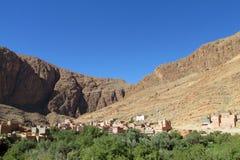 Zielona oaza w Maroko górach Obrazy Royalty Free