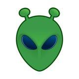Zielona obcy głowa Zdjęcie Stock