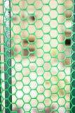 Zielona ochronna stalowa siatka Zdjęcie Stock