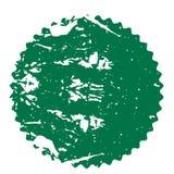Zielona odznaka, etykietka, majcher Prosty retro, mieszkanie stylowego rocznika abstrakcjonistyczny starburst, sunburst ilustracja wektor