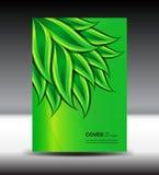 Zielona Okładkowa projekta i pokrywy sprawozdania rocznego wektoru ilustracja Obraz Royalty Free