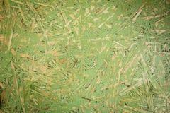 Zielona OSB Ukierunkowywająca pasemko deska Obraz Stock