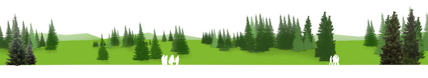 zielona panorama Obrazy Royalty Free