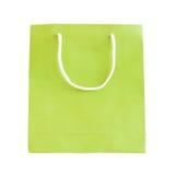 Zielona papierowa torba Fotografia Royalty Free