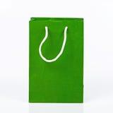Zielona papierowa torba Obraz Royalty Free