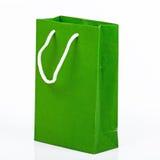 Zielona papierowa torba Zdjęcia Royalty Free