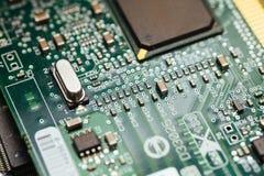 Zielona PCB deska Zdjęcia Stock
