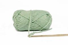 Zielona piłka bawełna obraz stock