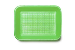 Zielona Piankowa taca Zdjęcia Stock