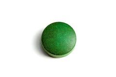 zielona pigułka Zdjęcia Royalty Free