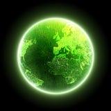 zielona planeta Zdjęcia Royalty Free