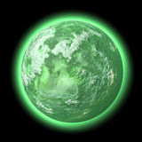 zielona planeta royalty ilustracja
