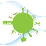 zielona planeta Zdjęcie Stock