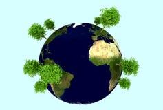 zielona planeta ilustracja wektor