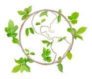 Zielona planeta Fotografia Stock
