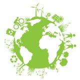 Zielona planeta Obrazy Stock