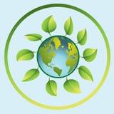 Zielona planeta jest Ziemska Fotografia Royalty Free
