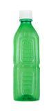 Zielona plastikowa butelka bez etykietki, odosobnionej na bielu Obrazy Royalty Free