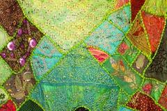 zielona pościel Fotografia Royalty Free