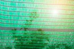 Zielona podcieniowanie sieć dla gacenia słońca światła Obrazy Stock