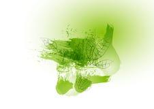 Zielona pojęcie urlopu linia z zielonym akwarela projektem, wektorowa ilustracja Obraz Royalty Free