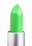 Zielona pomadka na bielu Zdjęcie Royalty Free