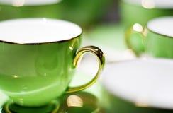 zielona porcelana Zdjęcie Royalty Free