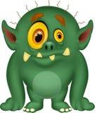Zielona potwór kreskówka Zdjęcia Stock