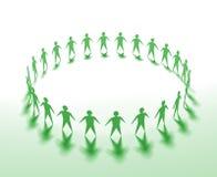 zielona praca zespołowa royalty ilustracja