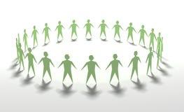 zielona praca zespołowa ilustracji