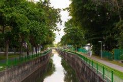 Zielona przestrzeń wzdłuż Kallang rzeki znać jako PCN publicznie Zdjęcie Royalty Free