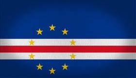 Zielona przylądek flaga royalty ilustracja