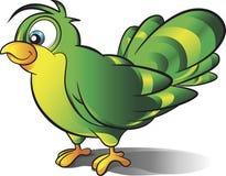Zielona ptasia wektorowa kreskówka Zdjęcie Stock